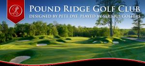 logo of the Pound Ridge Golf Course in New York
