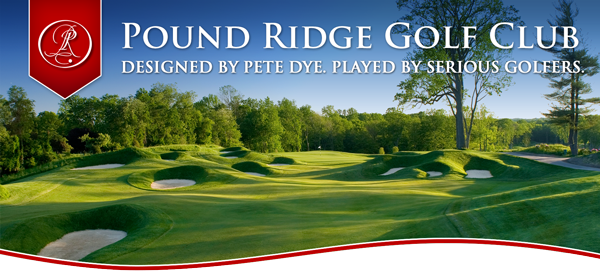 logo of the Pound Ridge Golf Course in New York