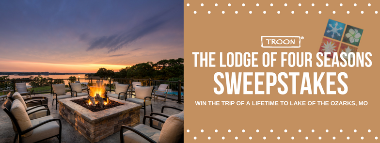 graphic of the Lodge of Four Season Sweepstakes promotion