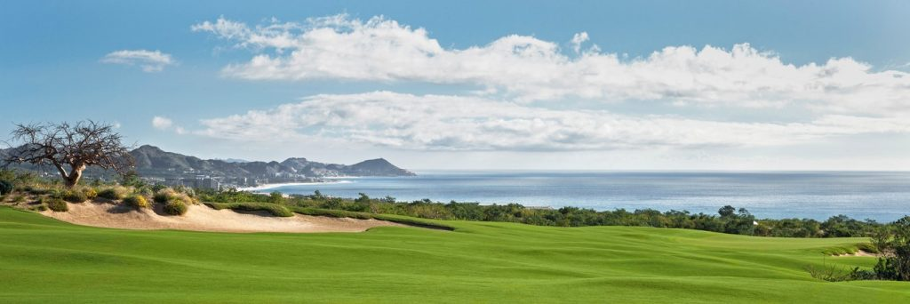 Picture of hole number 2 at the Twin Dolphin Golf Club in Los Cabos, Mexico