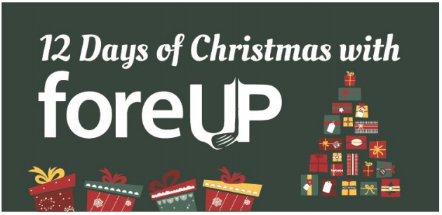 promotional graphic for foreUp 12days of christmas