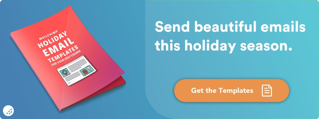 Chronogolf Publishes Package Of Holiday Themed Email Marketing Templates