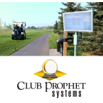 New starter board TV displays live tee sheets of upcoming tee times