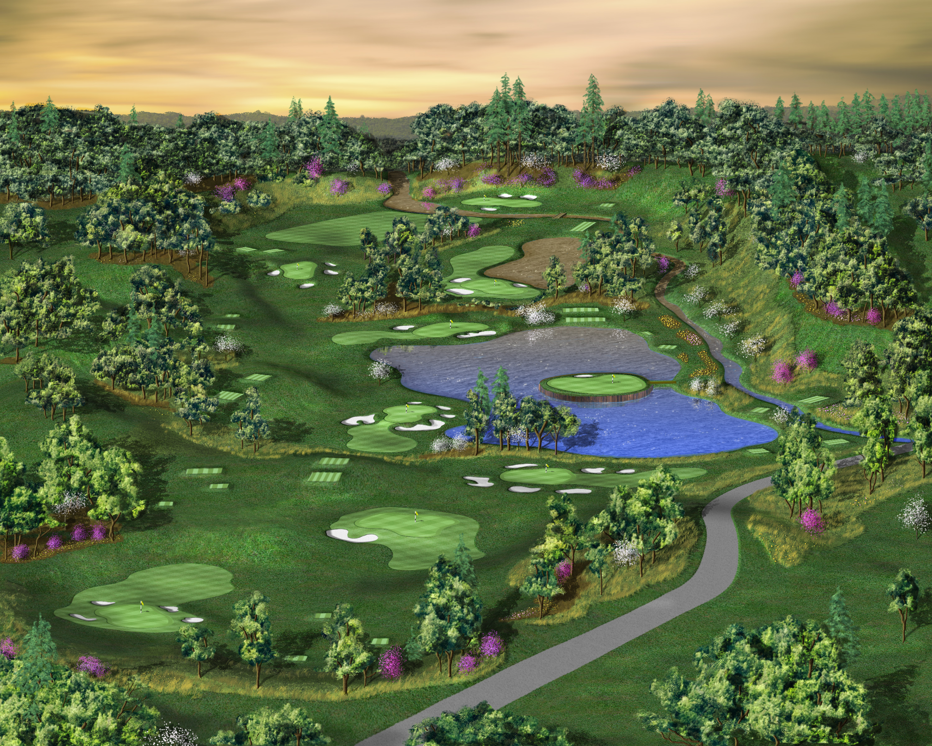 New course features synthetic turf tees and greens - The
