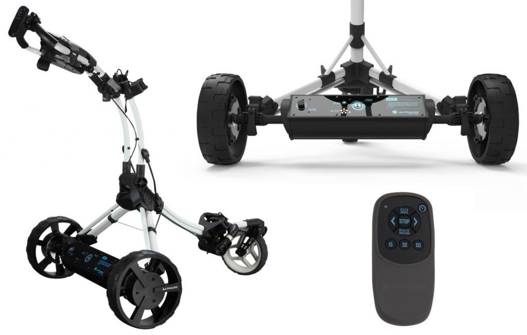 The Club Booster eWheels transform your push cart into a remote controlled caddie.
