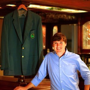 picture of Ryan Carey with Master's Golf Tournament Green Jacket