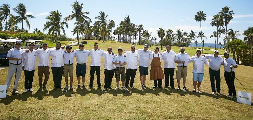 Golf Kitchen Punta Mita Chefs line up to cook and compete.