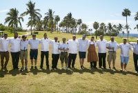 Golf Kitchen Punta Mita Chefs line up to cook and compete.