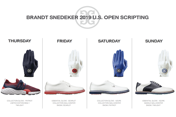 Brandt Snedeker 2019 U.S. Open Championship Apparel