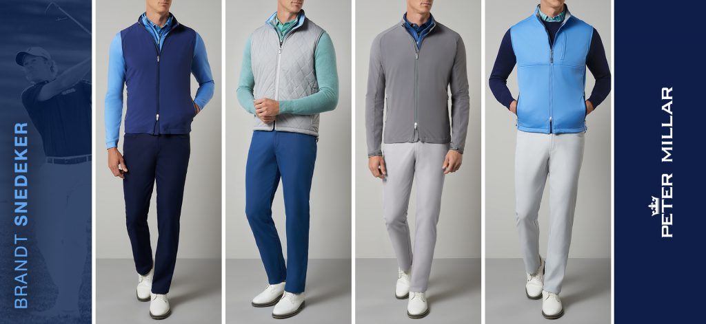 Peter Millar apparel script for Brandt Snedeker at The Open at Royal Portrush 2019