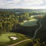 Aerial of the 2nd hole Potomac Shores
