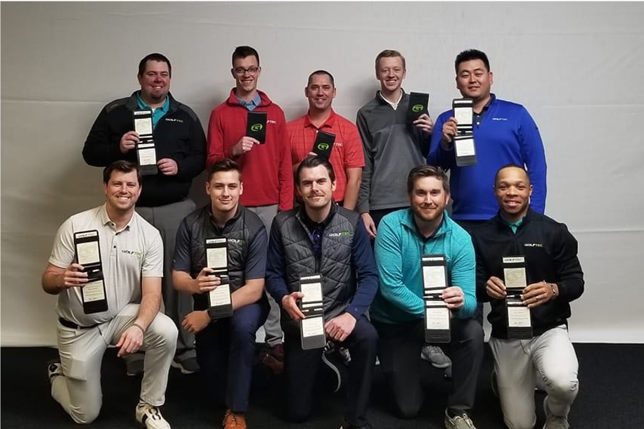 picture of the Newly certified GOLFTEC Coaches - March 2020 class