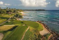 Aerial view of Casa de Campo's golf course hole number 5